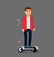 man on his hoverboard vector image