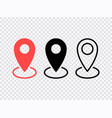 map pin icons set location sign navigation map vector image