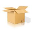 Open realistic cardboard box vector image