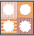 pastel color gentle posters with round frames vector image vector image
