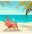 people on summer vacation vector image vector image