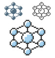 pixel icon nanothecnology concept in three vector image