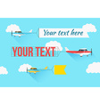 Plane with fly banners vector image