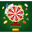 realistic detailed 3d casino fortune wheel concept vector image vector image