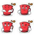 red glass character cartoon set collection vector image vector image
