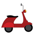 red vespa scooter on white background vector image vector image