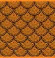 seamless orange floral mandala pattern vector image