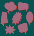 set of purple speech bubbles vector image vector image