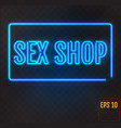 sex shop neon sign adults store banner vector image