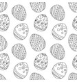 simple seamless pattern with easter eggs vector image