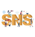 social networking service typography banner vector image