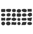 speech bubble shapes tag black sticker icon set vector image