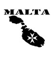symbol of malta and maps vector image vector image