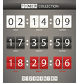 timers collection vector image vector image