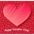 Valentines day card on hand drawn dots background vector image