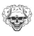 vaper skull concept vector image vector image