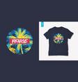 venice beach california graphic tee design vector image vector image