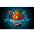 video game sign royal magic emblem vector image vector image