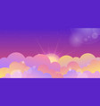 violet sunset sky and color clouds vector image vector image
