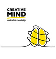 yellow color brain with black wire and te vector image