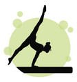young girl gymnast silhouette exercise sport