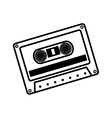 hand drawing cassette music record icon vector image
