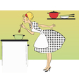 Cooking dinner vector image