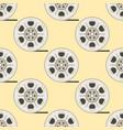 film cinema technology seamless pattern vector image