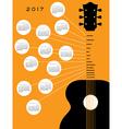 2017 Guitar calendar vector image vector image