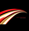 abstract red yellow light hight speed curve black