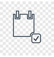 application form concept linear icon isolated on vector image