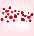 background naturalistic rose petals vector image vector image