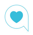 blue color silhouette of speech bubble icon with vector image