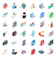 bomb in computer icons set isometric style vector image vector image