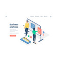 business analysts working with data isometric vector image vector image