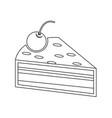 cake piece icon vector image vector image