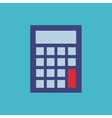 calculator flat isolated icon vector image vector image