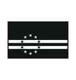 Cape Verde flag monochrome on white background vector image vector image
