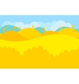 Cartoon Landscape of Yellow Desert and Trees for vector image vector image
