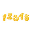 cheese numbers part 1 hand drawn numbers vector image