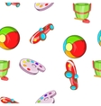 Child play pattern cartoon style vector image vector image
