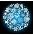 Christmas glowing ball vector image