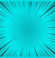 comic book page turquoise background vector image