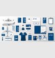 corporate branding identity template design vector image vector image