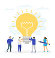 creative idea business innovation teamwork vector image vector image