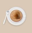 cup of coffee cappuccino with a teaspoon vector image vector image