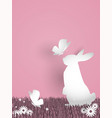 cute easter greeting background vector image vector image