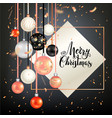 dark holiday template vector image vector image