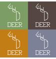 deer monogram vector image vector image