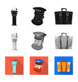 design of airport and airplane icon vector image
